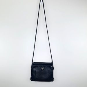 Brighton Black Leather Small Crossbody Bag